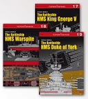 The battleship HMS Duke of York The Battleship HMS Warspite  The Battleship HMS King George V
