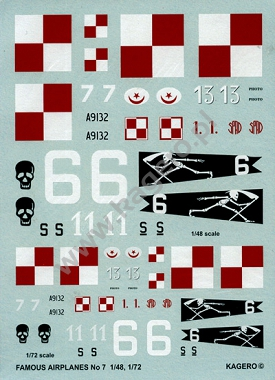 49 - Decals Famous Airplanes SPAD S.A1-S.VII.C1 Militaria XX wieku - nr 04(49)/2012 - Militaria XX Wieku - nr 05(44)/2011